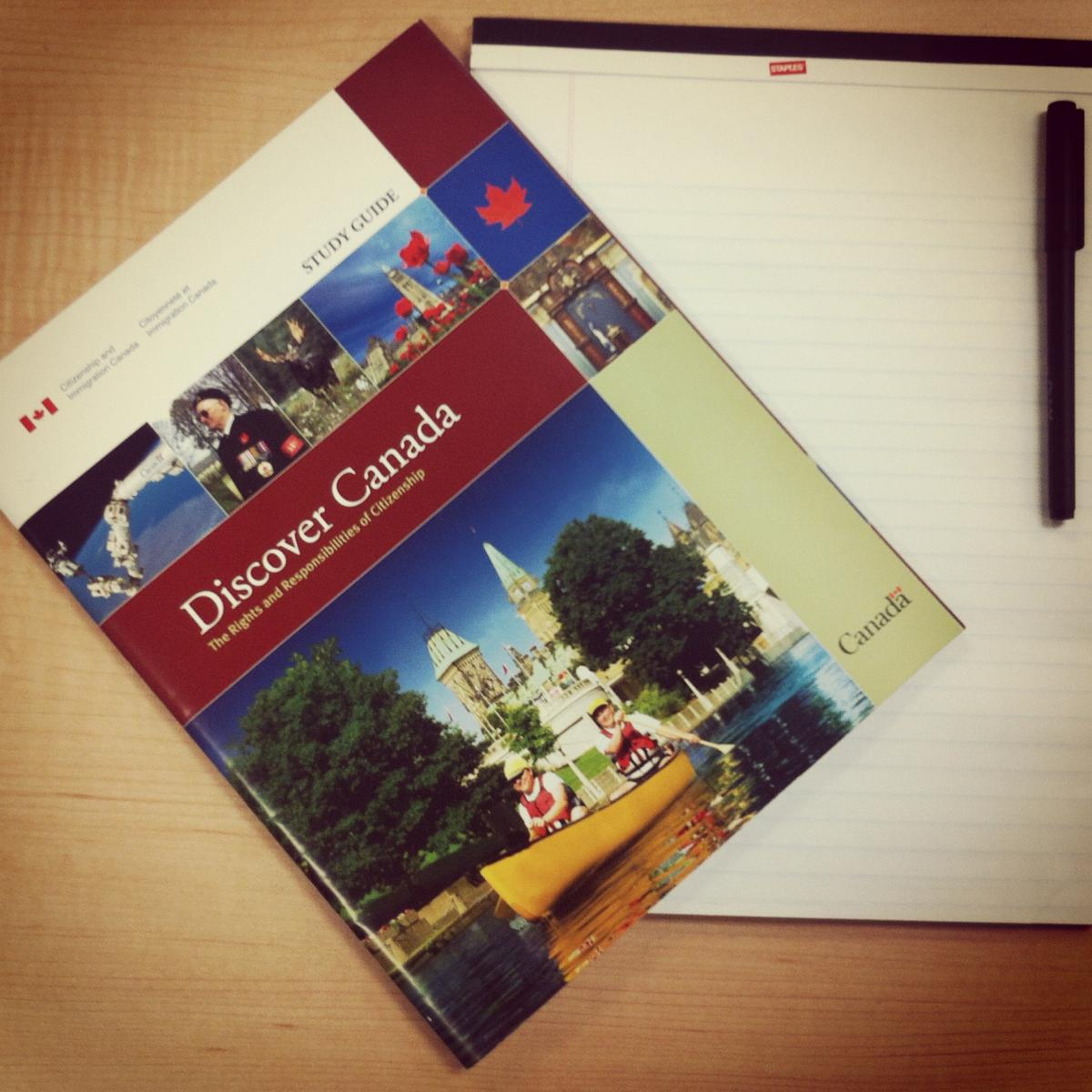 Canadian Citizenship Test study guide by Discover Canada